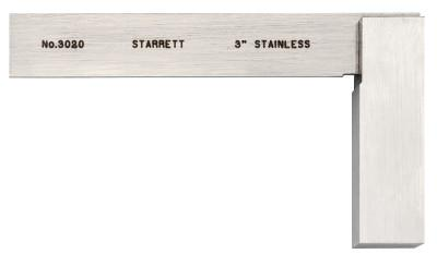 L.S. STARRETT 3020 Series Toolmakers' Squares, 1 31/32 in x 3 in, Stainless Steel