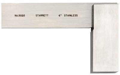 L.S. STARRETT 3020 Series Toolmakers' Squares, 2 31/32 in x 4 in, Stainless Steel