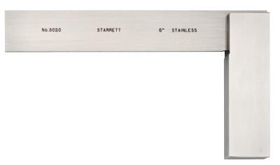 L.S. STARRETT 3020 Series Toolmakers' Squares, 3 29/32 in x 6 in, Stainless Steel