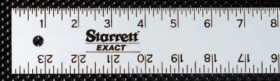 "L.S. STARRETT ASE-96 96"" .125 THICK ALUMINUM STRAIGHT EDGE RUL"