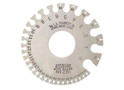 L.S. STARRETT Nos. 0-36 American Standard Wire Gages, Satin Finish