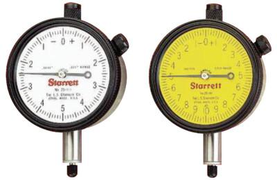 L.S. STARRETT 25 Series AGD Group 2 Dial Indicators, 0-50 Dial, 1 in Range