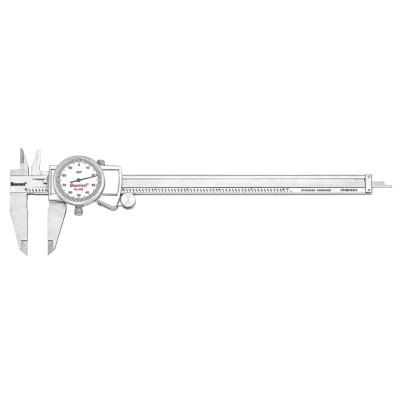 L.S. STARRETT 3202 Series Dial Calipers, 0 in-8 in, Stainless Steel