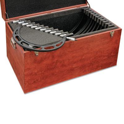 "L.S. STARRETT Carbide Outside Micrometer Set .001"" Graduation, 12""-24"" Measuring Range"