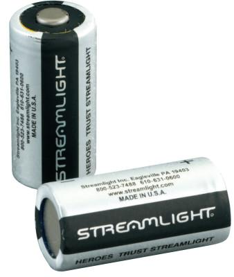 STREAMLIGHT CR123A Lithium Batteries, 3 V, 2 Pk.