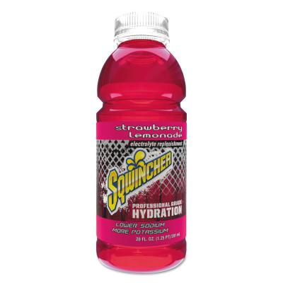 SQWINCHER Ready-To-Drink, Strawberry Lemonade, 20 oz Wide-Mouth Bottle