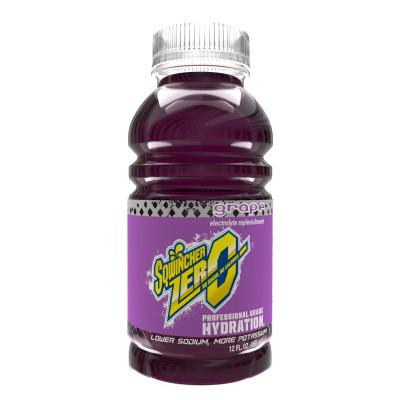 SQWINCHER ZERO Ready to Drink, 12 oz Bottle, Grape
