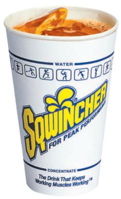 SQWINCHER Cups, 12 oz, White; Blue; Yellow