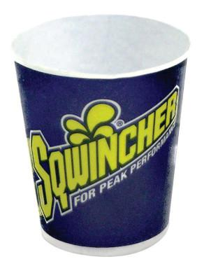 SQWINCHER Cups, 5 oz, White; Blue; Yellow