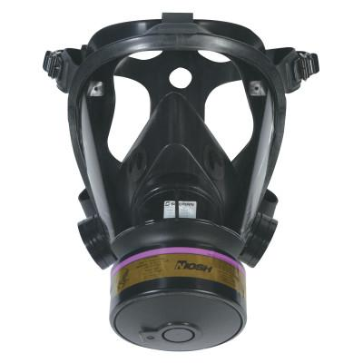 HONEYWELL NORTH Survivair Opti-Fit Tactical Gas Mask, Medium, 5-Point Strap