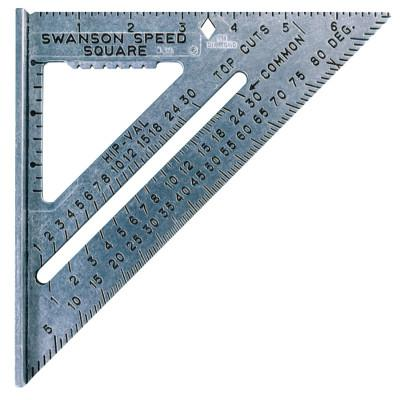 SWANSON TOOLS Speed Squares, 7 3/16 in x 7 in, 1/8 in, Black, Aluminum
