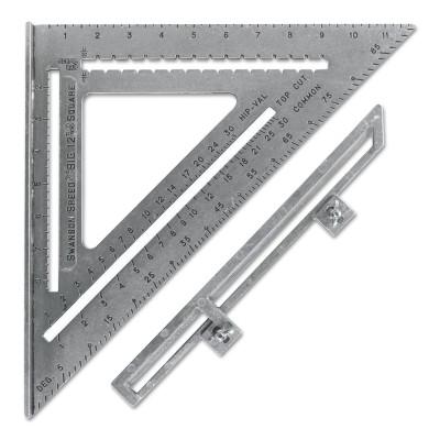 SWANSON TOOLS The Big 12 Speed Squares, 12 in, Aluminum