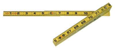 U.S. TAPE Rhino Folding Rulers, 6 ft, Fiberglass, Carpenter's Inside-Reading
