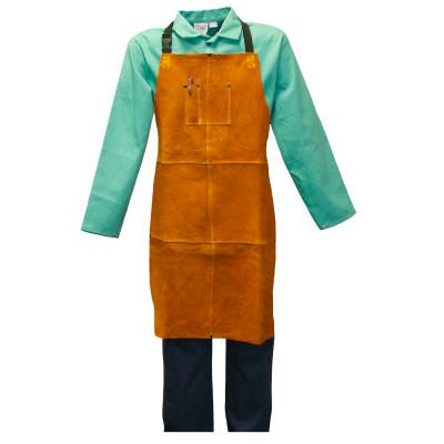 STANCO Leather Welder's Clothing, 24 in x 36 in, Leather, Golden Brown