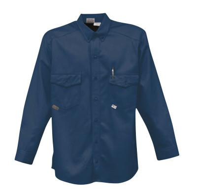 STANCO Button-Up Shirts, X-Large, Tan/Navy Blue