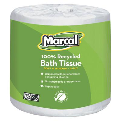 MARCAL PAPER 100% Recycled Two-Ply Bath Tissue, White