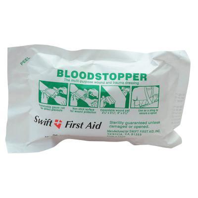 HONEYWELL NORTH Bloodstopper Bandages, 5 in x 8 in, Sterile Gauze, Gauze, 1 each