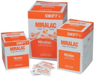 NORTH SAFETY Miralac Antacids, Calcium Carbonate