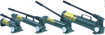 SIMPLEX Heavy Duty Hand Pumps, Two-Speed, 45 cu in Useable Oil Cap. Max