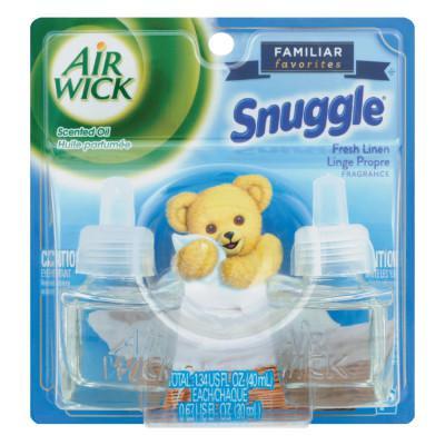 AIR WICK Scented Oil Twin Refill, Snuggle Fresh Linen, 0.67 oz