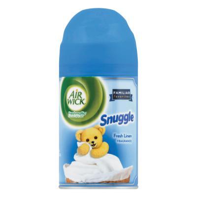AIR WICK FRESHMATIC ULTRA Spray Refill, Snuggle Fresh Linen, Aerosol, 6.17 oz