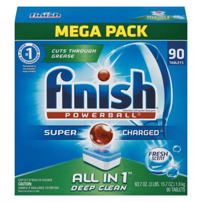 FINISH Powerball Dishwasher Tabs, Fresh Scent, 90/Box
