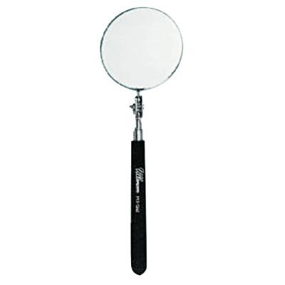 ULLMAN Telescoping Inspection Mirror, 3-1/4 in dia, 10-1/2 in to 29-1/2 in L