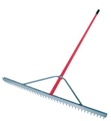 RAZOR-BACK Landscape Rake, 66 in Aluminum Handle, 36 in Head