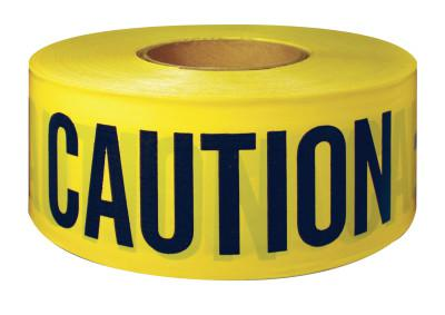INTERTAPE POLYMER GROUP Barricade Tape, 3 in x 300 ft, Yellow, Caution