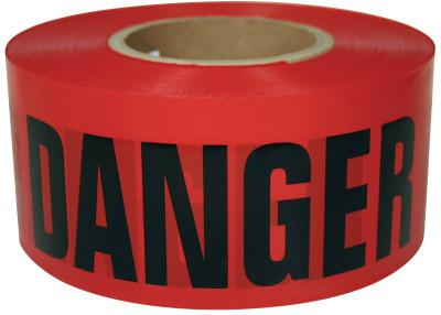 INTERTAPE POLYMER GROUP Barricade Tape, 3 in x 1,000 ft, Red, Danger