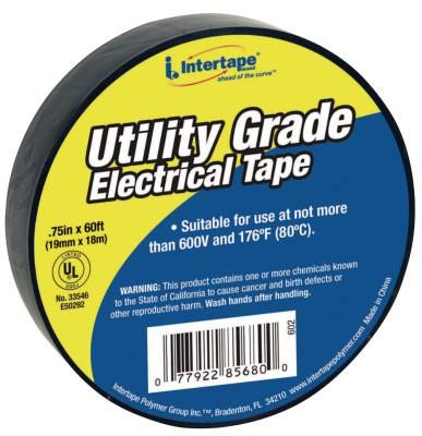 INTERTAPE POLYMER GROUP General Purpose Vinyl Electrical Tapes, 60 ft x 3/4 in, Black