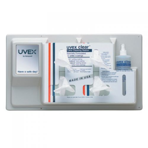 HONEYWELL UVEX Lens Cleaning Products, 12 1/2 in  X 22 1/2 in, Permanent Station