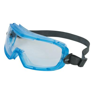 HONEYWELL UVEX Entity Goggles, Translucent Blue Frame, Clear Lens, Uvextra Antifog Coating