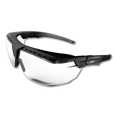 HONEYWELL UVEX Avatar™ OTG Safety Glasses, Clear/Polycarbonate/Anti-Reflective Lens, Black