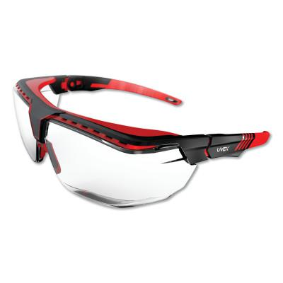 HONEYWELL UVEX Avatar™ OTG Safety Glasses, Clear/Polycarbonate/Anti-Reflective Lens, Red/Black