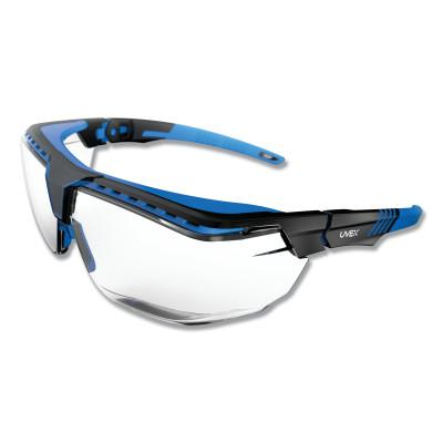HONEYWELL UVEX Avatar™ OTG Safety Glasses, Gray/Polycarbonate/Anti-Reflective Lens, Blue/Black
