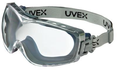 HONEYWELL UVEX Stealth OTG Goggles, Clear/Navy, Dura-Streme Coating, Neoprene Strap