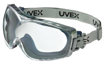 HONEYWELL UVEX Stealth OTG Goggles, Clear/Navy, Dura-Streme Coating, Fabric Strap