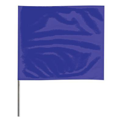 PRESCO Stake Flags, 2 in x 3 in, 21 in Height, PVC; Steel Wire, Blue