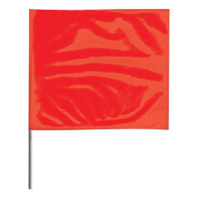 PRESCO Stake Flags, 2 in x 3 in, 21 in Height, PVC; Steel Wire, Red