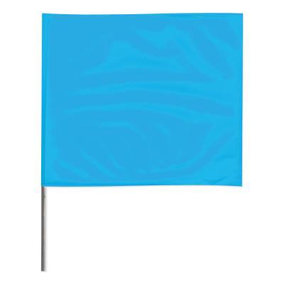PRESCO Stake Flags, 4 in x 5 in, 24 in Height, Blue Glo