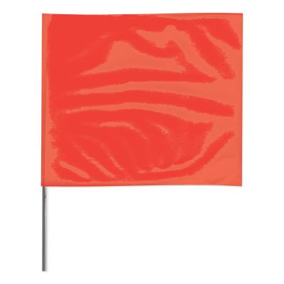 PRESCO Stake Flags, 4 in x 5 in, 24 in Height, Red Glo