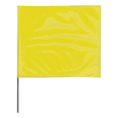PRESCO Stake Flags, 4 in x 5 in, 24 in Height, Yellow