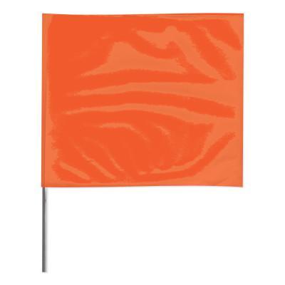 PRESCO Stake Flags, 4 in x 5 in, 36 in Height, Orange Glo
