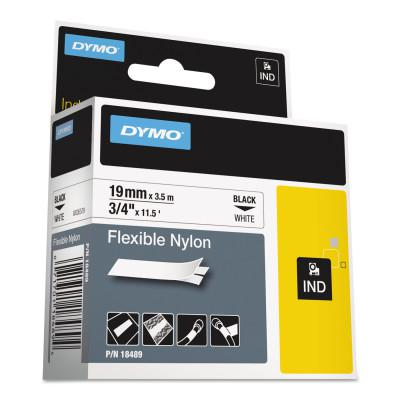 DYMO/RHINO RHINO Industrial Flexible Nylon Labels, 3/4 in x 11 1/2 ft, White