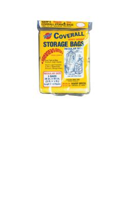 WARP BROTHERS Oversize Storage Bags, 36 X 60 in, Yellow, 5 per package