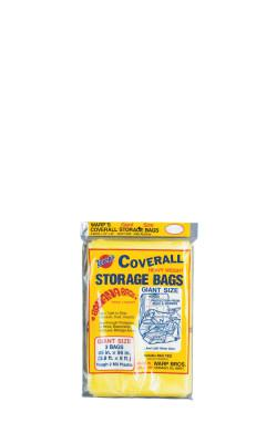 WARP BROTHERS Oversize Storage Bags, 45 X 96 in, Yellow, 3 per package