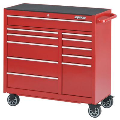 WATERLOO Pro Series Cabinets, 41 1/4 in x 18 in x 42 1/4 in, 11 Drawers, Red