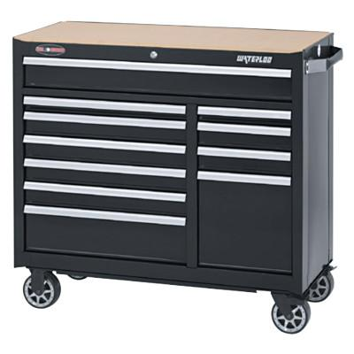 WATERLOO Series Cabinets, 41 in x 18 in x 37 1/4 in, 11 Drawers, Black