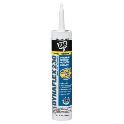 DAP DYNAFLEX 230 Premium Indoor/Outdoor Sealants (PC 18300), 10.1 oz , White